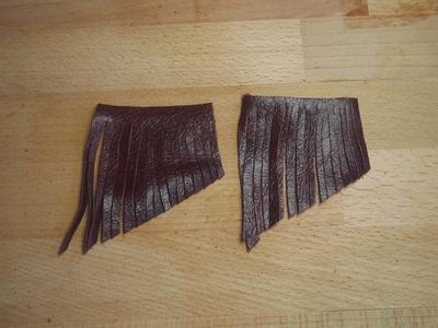 How to make a tassel charm. Leather Tassel Handbag Charm - Step 5