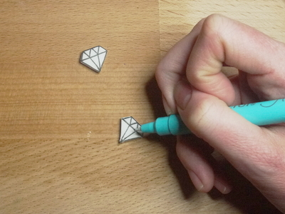 How to make a pair of shrink plastic earrings. Diamond Shape Earrings - Step 7