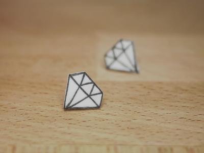How to make a pair of shrink plastic earrings. Diamond Shape Earrings - Step 10