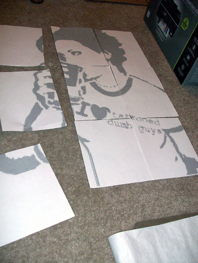 How to make a stencil. Large Scale Stencils From Photographs - Step 3