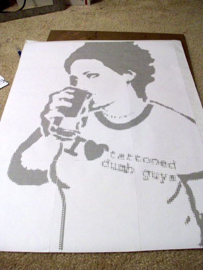 How to make a stencil. Large Scale Stencils From Photographs - Step 4