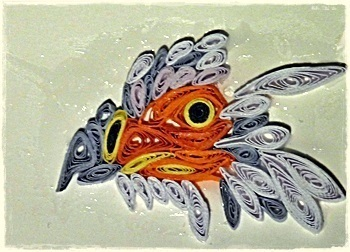 How to fold a piece of quilled art. Quilling Bird At Cs :3 - Step 1