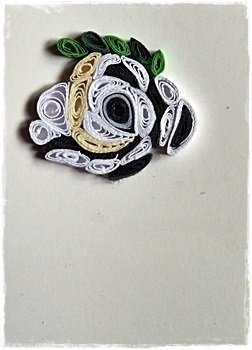 How to fold a piece of quilled art. Quilling Bird At Cs :3 - Step 2