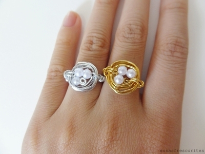 How to make a wire nest ring. Bird Nest Ring - Step 9