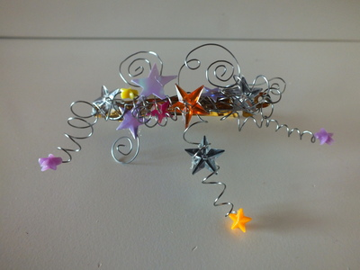 How to make a metal hair clip. Starburst Fairylike Hairclip - Step 4