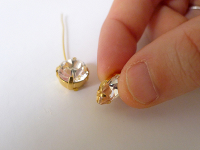 How to make a spike necklace. Diy Crystal Spike Necklace - Step 4