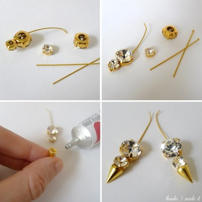 How to make a spike necklace. Diy Crystal Spike Necklace - Step 6
