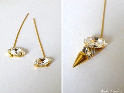How to make a spike necklace. Diy Crystal Spike Necklace - Step 7