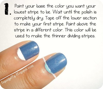 How to paint a themed nail manicure. Sailboat Nails - Step 3