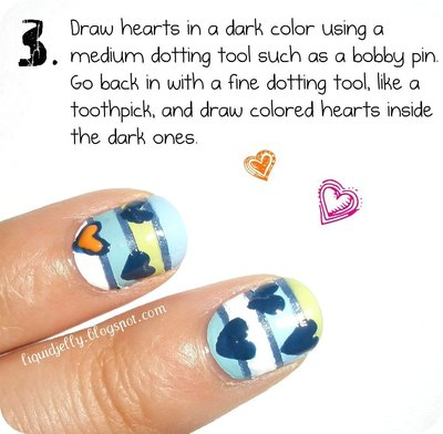 How to paint a themed nail manicure. Sailboat Nails - Step 5