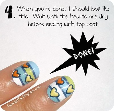 How to paint a themed nail manicure. Sailboat Nails - Step 6