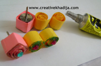 How to make a set of paper earrings. Diy Paper Quilled Earrings - Step 2