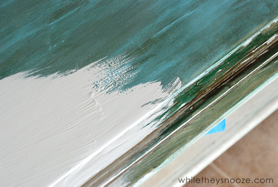How to make a painted table. Diy Painted Map Table - Step 3