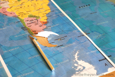 How to make a painted table. Diy Painted Map Table - Step 4
