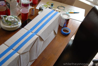 How to make a painted table. Diy Painted Map Table - Step 8