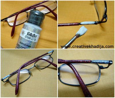 How to make a pair of spectacles. Diy Glitter Eyeglasses - Step 2