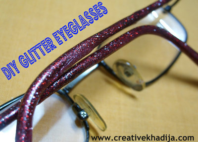 How to make a pair of spectacles. Diy Glitter Eyeglasses - Step 3