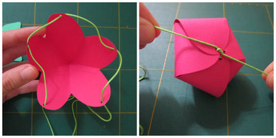 How to fold a strawberry box. Strawberry Box - Step 4