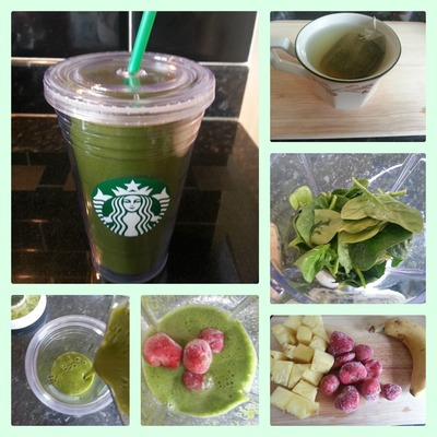 How to mix a green smoothie. Yummy Green Smoothie - Step 1