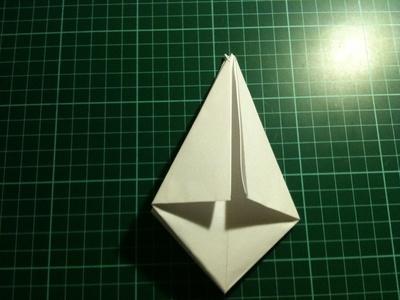 How to fold an origami crane. Origami Crane - Step 7
