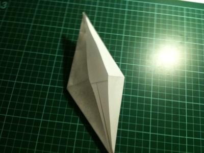 How to fold an origami crane. Origami Crane - Step 11