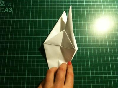How to fold an origami crane. Origami Crane - Step 12