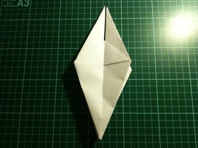 How to fold an origami crane. Origami Crane - Step 13