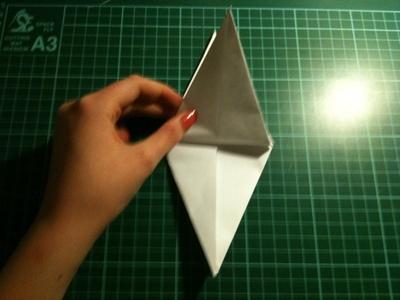 How to fold an origami crane. Origami Crane - Step 14