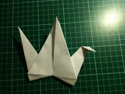 How to fold an origami crane. Origami Crane - Step 17
