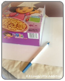 How to make a box. Recycled Cereal Box - Step 3