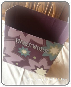 How to make a box. Recycled Cereal Box - Step 6