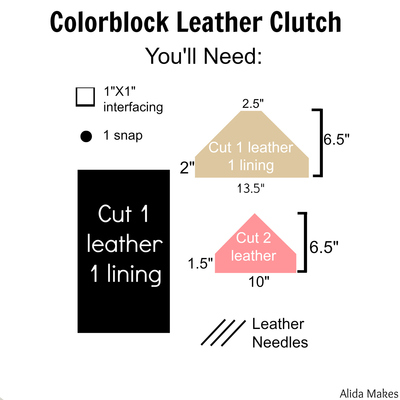 How to make an envelope clutch. Colorblock Clutch - Step 1
