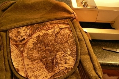 How to make a backpack. Map Backpack - Step 6