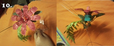 How to make a recycled candle holder. How To Make Candle Stand From Waste Plastic Bottle... - Step 10