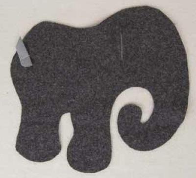 How to make an elephant plushie. Elephant - Step 8