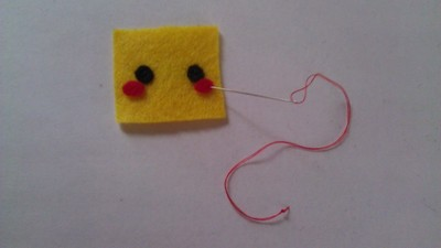 How to make a Pokemon plushie. Cubed Pikachu Plushie! - Step 5