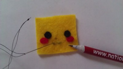 How to make a Pokemon plushie. Cubed Pikachu Plushie! - Step 6