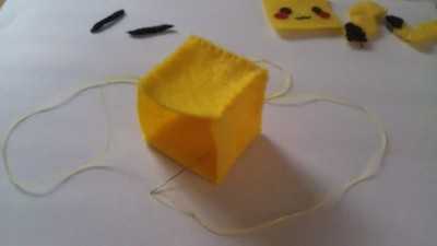 How to make a Pokemon plushie. Cubed Pikachu Plushie! - Step 8