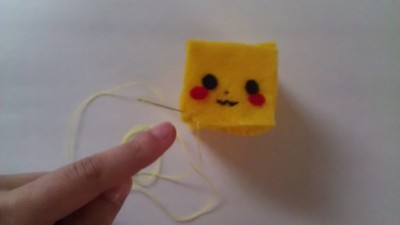 How to make a Pokemon plushie. Cubed Pikachu Plushie! - Step 9