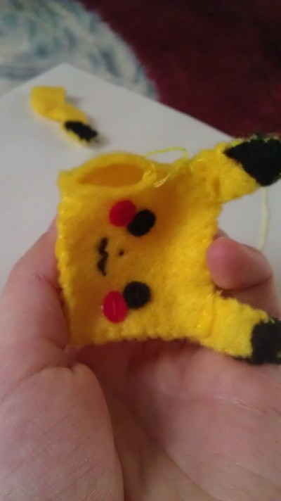 How to make a Pokemon plushie. Cubed Pikachu Plushie! - Step 12