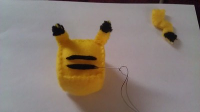 How to make a Pokemon plushie. Cubed Pikachu Plushie! - Step 14