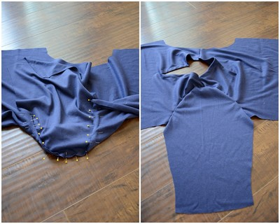 How to make a piece of swimwear. J.Crew Inspired Beach Coverup - Step 10