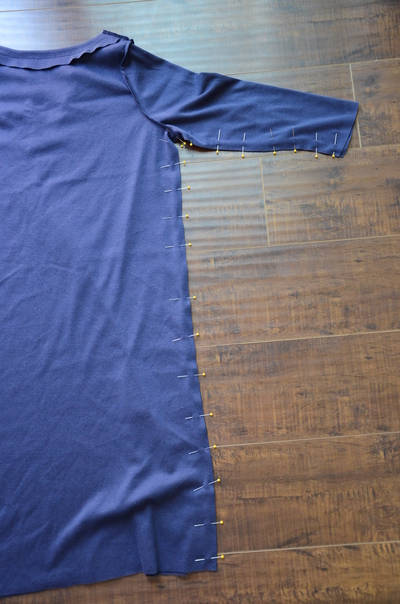 How to make a piece of swimwear. J.Crew Inspired Beach Coverup - Step 12