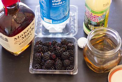 How to mix a bramble cocktail. Bourbon Blackberry Bramble - Step 1