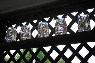 How to make a lantern. Crochet Doily Lanterns - Step 5