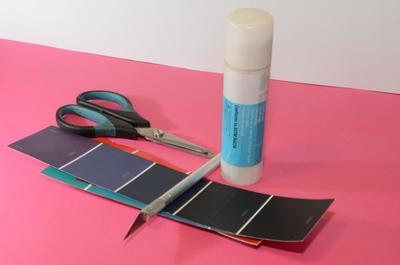 How to make a recycled bookmark. Paint Chip Book Separator - Step 1