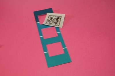 How to make a recycled bookmark. Paint Chip Book Separator - Step 3
