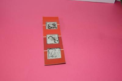 How to make a recycled bookmark. Paint Chip Book Separator - Step 4