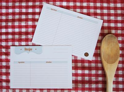 How to make stationery. Printable Retro Recipe Cards - Step 3