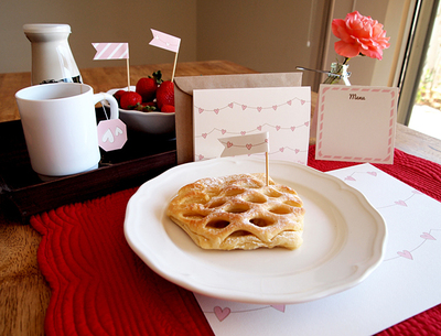How to make a card. Breakfast In Bed Kit - Step 4